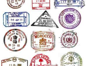 英文信件书信邮戳印迹PS笔刷 #.3