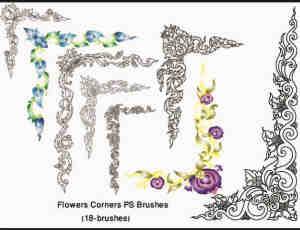 矢量花朵花边花纹PS装饰笔刷下载#.6