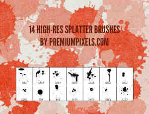 18种样式油漆涂鸦PS画笔笔刷下载