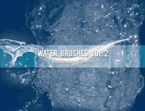 真实的高清水花、水流、溅水PS笔刷下载