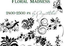 37种高分辨植物花纹印花图案PS笔刷