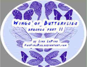 漂亮的蝴蝶翅膀PS笔刷下载 #.2