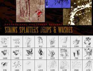 75种高品质喷溅喷洒油漆效果PS笔刷下载