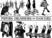 苏格兰风情跳舞场景PS笔刷