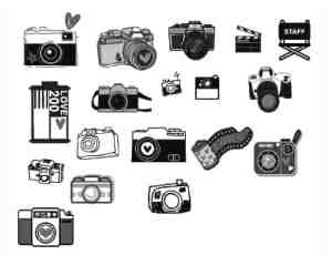 卡哇伊卡通照相机PS笔刷下载