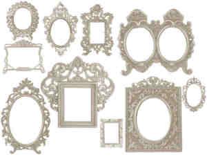 复古边框、镜框、相框、画框PS笔刷