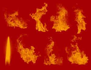 真实的高品质火焰燃烧效果PS笔刷下载