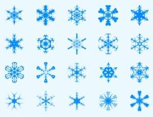 20种样式各异的雪花图案PS笔刷下载