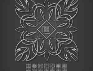漂亮的手绘式图案花纹 photoshop CS5专用笔刷下载