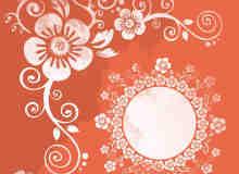 漂亮的植物罗盘花纹背景笔刷