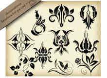欧式贵族经典园艺花纹PS笔刷