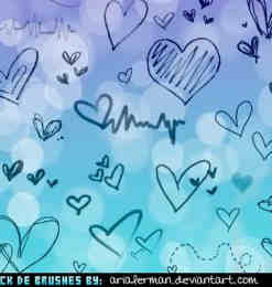 爱手绘卡通爱心涂鸦PS笔刷下载-卡通笔刷 第 35 页