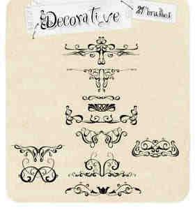 古典欧式花纹铁艺装饰PS笔刷