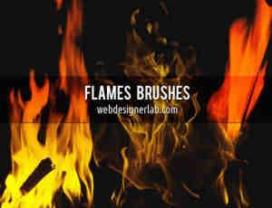 火焰燃烧和火苗笔刷