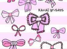 可爱的卡通蝴蝶结装饰笔刷
