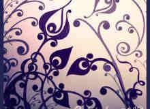 高贵漂亮的精致植物花纹PS笔刷