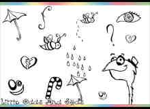 可爱的卡通生活元素涂鸦PS笔刷