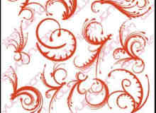 经典的艺术花纹印花图案PS笔刷