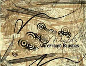 线形边框抽象艺术PS笔刷