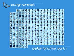 220个时尚矢量元素图案PS笔刷下载