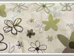 手绘的花卉花纹图案PS笔刷下载