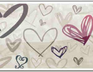 各种可爱的涂鸦爱心PS笔刷