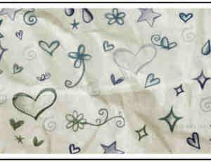 可爱涂鸦式爱心、星星、鲜花PS笔刷