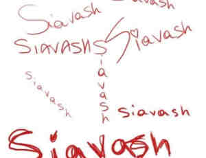 手写爱情签名涂鸦PS笔刷