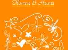 手写涂鸦绘画花朵笔刷
