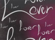 LOVE艺术字体PS笔刷