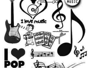 音乐符号元素装饰PS素材下载