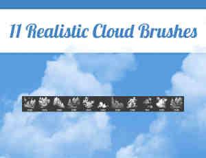 高清真实的天空云彩、天空状况PS笔刷