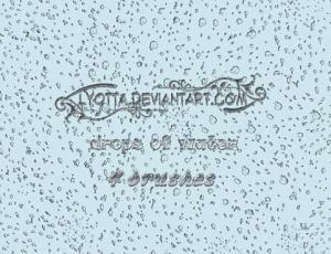 简单的小雨点、雨滴PS笔刷