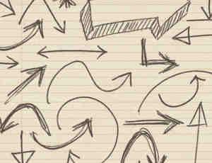 手绘涂鸦箭头PS笔刷下载