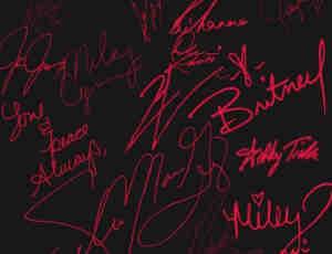 漂亮的手绘签名字体设计PS笔刷