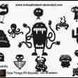 搞怪的动物外星人PS笔刷