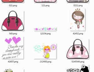 可爱卡通女孩图片素材-美图秀秀素材