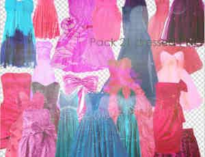21套美丽的礼服裙子图片素材-【美图秀秀素材】