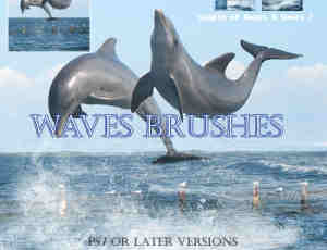 海水波浪photoshop笔刷下载