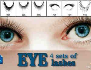 4对真实的高品质眼睫毛、假睫毛装扮photoshop笔刷下载
