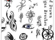 手绘非主流符号、纹饰photoshop笔刷素材