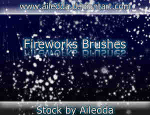 高品质的星光、亮点、烟火燃烧效果Photoshop笔刷素材