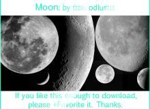 月球、月亮阴晴圆缺photoshop笔刷素材下载