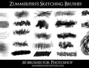 30种笔触效果photoshop画笔笔刷