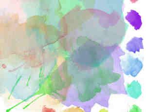 颜料画笔水粉笔触Photoshop笔刷素材