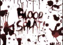 恐怖血手印、血迹、流血滴血效果photoshop笔刷素材