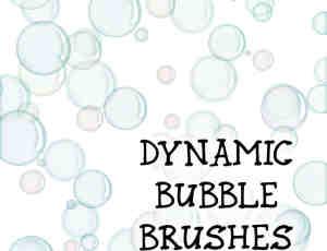 简单的泡泡、气泡Photoshop笔刷素材下载