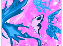 卡通蝴蝶翅膀、通话精灵翅膀、性感妖精翅膀photoshop笔刷素材