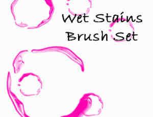 水迹、水痕效果photoshop笔刷素材