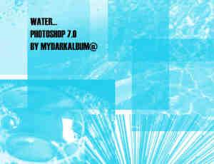 各种水质、水面纹理效果Photoshop笔刷素材